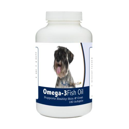 840235185055 Standard Schnauzer Omega-3 Fish Oil Softgels, 180 Count