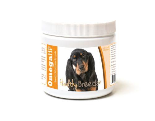 840235186847 Black & Tan Coonhound Omega HP Fatty Acid Skin & Coat Support Soft Chews