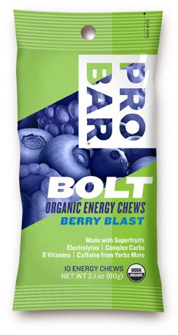 853152100537 Sleeve Bolt Organic Energy Chews - Berryblast With caffeine