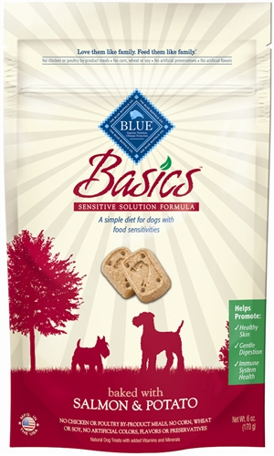 859610006571 BASIC DOG BISCUIT SALMON POTATO 6 OZ