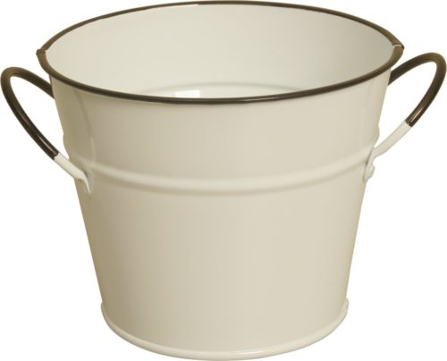 8682-5P 5 in. Pearl White Metal Pot Cover Pack of 3