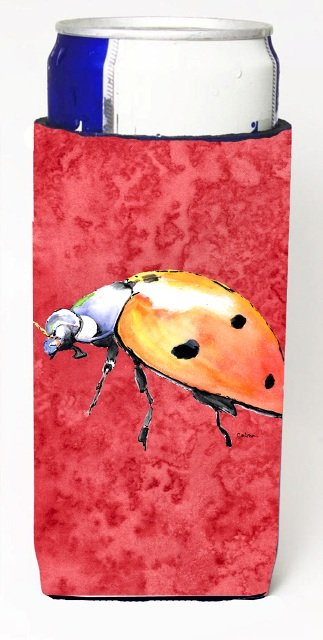 8868MUK Lady Bug On Red Michelob Ultra bottle sleeves For Slim Cans - 12 oz.