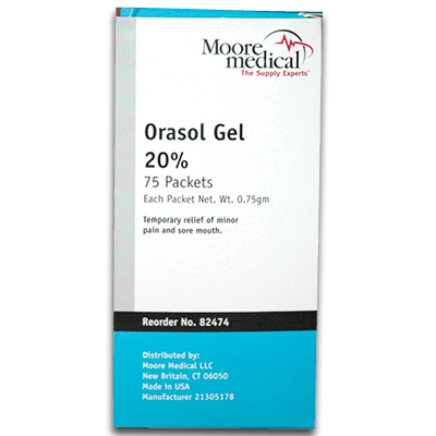 922-00270BX75 Orasol Gel Packets 0.75 gm, Box of 75