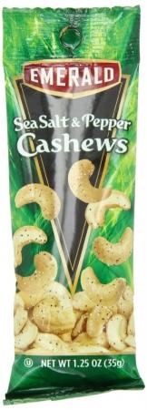 93817 Sea Salt and Pepper Cashews, 1.25 oz Tube Package, 12-Box