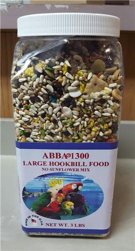 AB1300J 1300 Large Hookbill Seed 3 lbs Jar