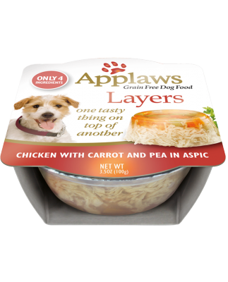 AW00258 3.5 oz Chicken & Carrot Dog Tub - 6 per Case