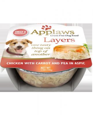 AW00258 3.5 oz Chicken & Carrot Dog Tub - 6 per Case