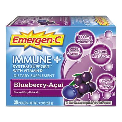 Alacer 100007 Immune Plus Formula, 0.3 oz, Blueberry Acai, 30-Pack