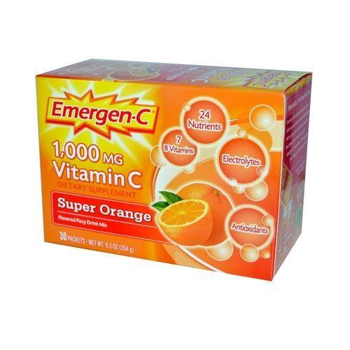 Alacer 350900 Alacer Emergen-C 1000 mg Vitamin C - Super Orange - 30 Packet