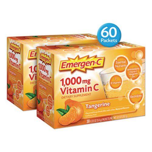 Alacer ALA139051 0.32 oz Beverage Immune Defense Drink Mix Tangerine Emergency - 60 Count