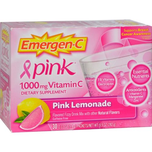 Alacer HG0351148 1000 mg Emergen-c Vitamin C Fizzy Drink Mix - Pink Lemonade, 30 Packets