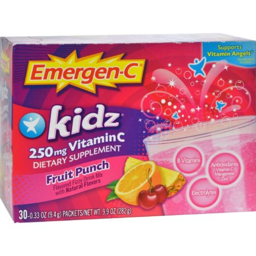 Alacer HG0758953 250 mg Emergen-c Kidz Vitamin C Fizzy Drink Mix - Fruit Punch, 30 Packet