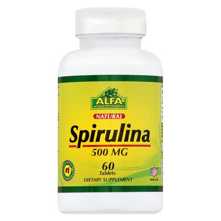 Alfa Vitamins Spirulina 500 mg Tabs - 60.0 ea