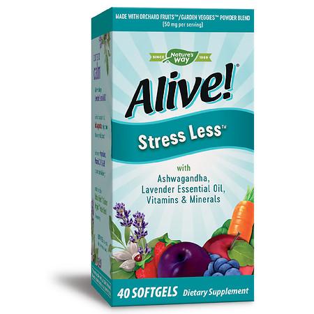 Alive! Stress Less - 40.0 ea