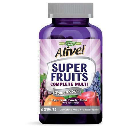 Alive! Super Fruit Women's 50+ Gummy - 60.0 ea