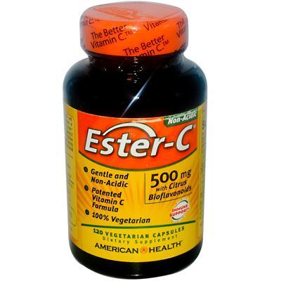 American Health 888115 American Health Ester-C with Citrus Bioflavonoids - 500 mg - 120 Vegetarian Capsules