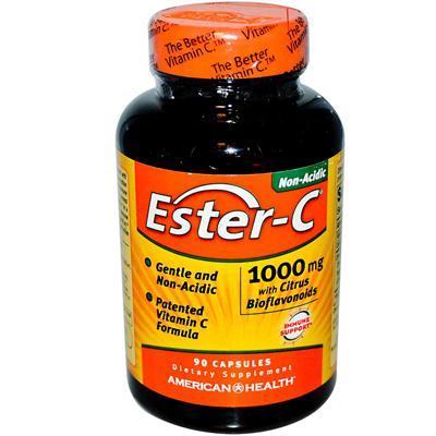 American Health 888412 American Health Ester-C with Citrus Bioflavonoids - 1000 mg - 90 Capsules