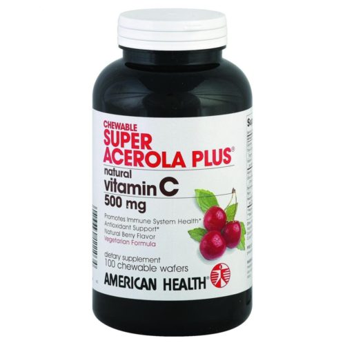 American Health HG0462408 500 mg Super Acerola Plus, 100 Chewable Wafers