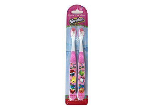 Ashtel Studios 00592-24 Brush Buddies Shopkins 2 Pack Manual Toothbrushes - Pack of 10
