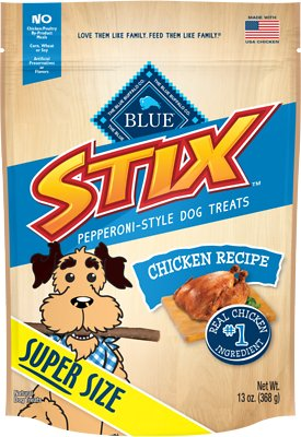 BB12305 13 oz Stix Chicken & Brown Rice Recipe Dog Treats