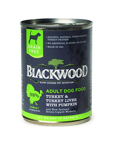 BK00003 13 oz Turkey Liver with Pumpkin Grain-Free Adult Canned Dog Food - Case of 12