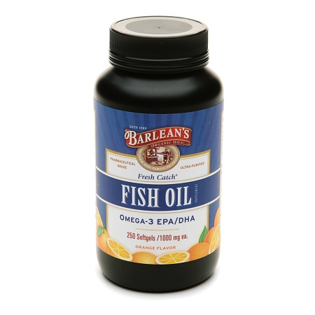 Barlean's Organic Oils Fresh Catch Fish Oil Omega-3 EPA/DHA 1000mg Softgels Orange - 250.0 ea