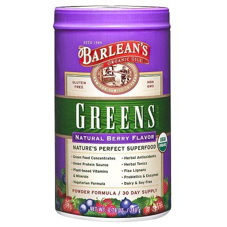 Barlean's Organic Oils Greens Berry - 8.78 oz