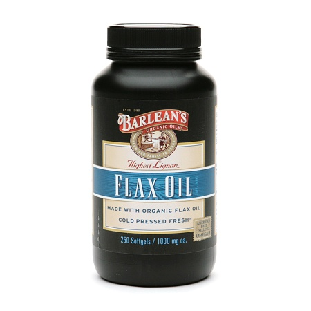 Barlean's Organic Oils Highest Lignan Content Cold Pressed Flax Oil, Capsules - 250.0 ea