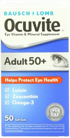 Bausch Lomb Ocuvite Adult 50 Plus Vitamin & Mineral Supplement, 50 Count