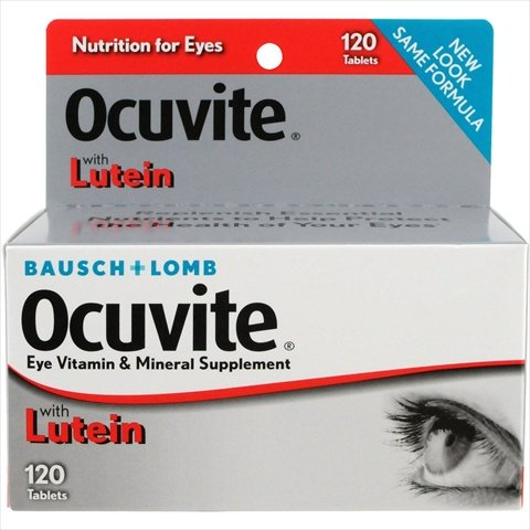 Bausch Lomb Ocuvite Eye Vitamin & Mineral Supplement, 120 Tablets