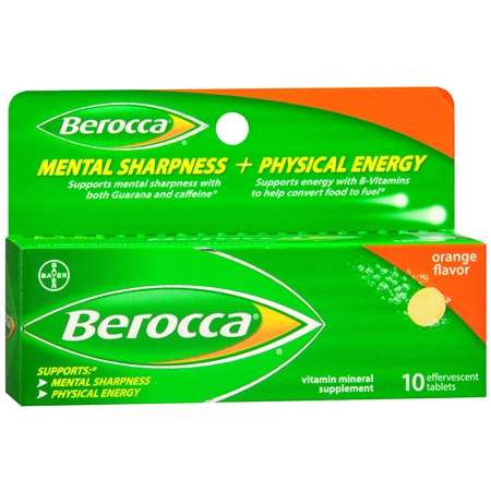 Berocca Vitamins B and C Antioxidant Energy Tablets Orange - 10.0 ea