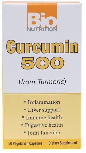 Bio Nutrition 1500933 Bio Nutrition Curcumin 500 - 50 Vegetarian Capsules