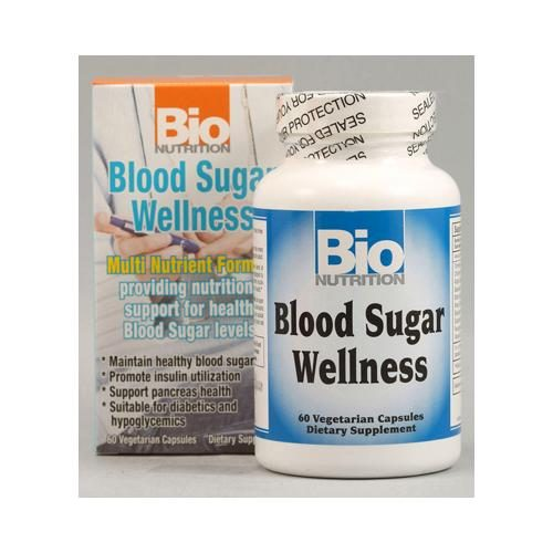 Bio Nutrition HG1029511 Blood Sugar Wellness - 60 Vegetarian Capsules