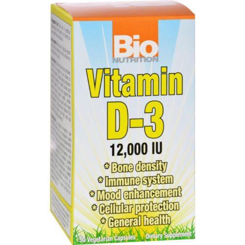 Bio Nutrition HG1126424 Vitamin D-3 - 12000 Iu, 50 Vegetarian Capsules