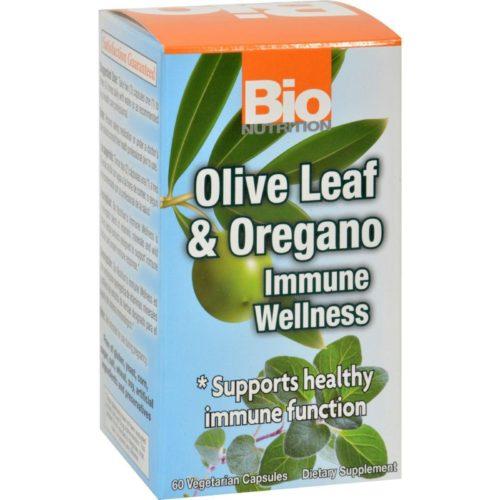 Bio Nutrition HG1182849 Olive Leaf & Oregano Immune Wellness - 60 Vegetarian Capsules