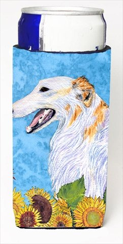 Borzoi In Summer Flowers Michelob Ultra bottle sleeves For Slim Cans - 12 Oz.
