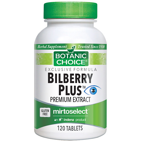 Botanic Choice Bilberry Plus Herbal Supplement Tablets - 120.0 Each