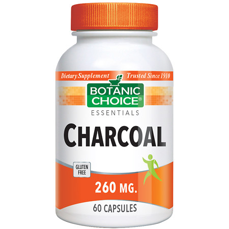 Botanic Choice Charcoal 260 mg Dietary Supplement Capsules - 60.0 ea.