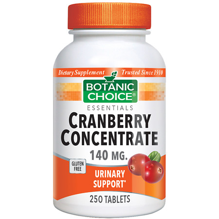 Botanic Choice Cranberry Concentrate 140 mg Dietary Supplement Tablets - 250.0 ea.