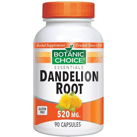 Botanic Choice Dandelion Root 520 mg Herbal Supplement Capsules - 90.0 ea.