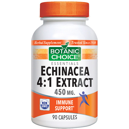 Botanic Choice Echinacea 4:1 Extract 450 mg Herbal Supplement Capsules - 90.0 ea.
