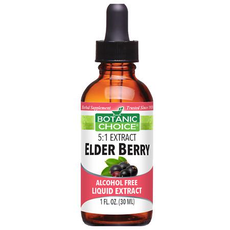 Botanic Choice Elder Berry Herbal Supplement Liquid - 1.0 Ounce