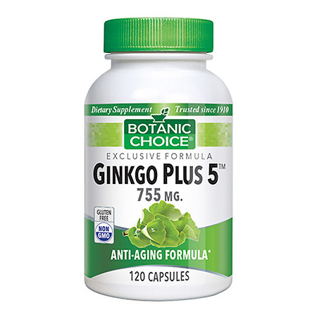 Botanic Choice Ginkgo Plus 5 Herbal Supplement Capsules - 120.0 ea
