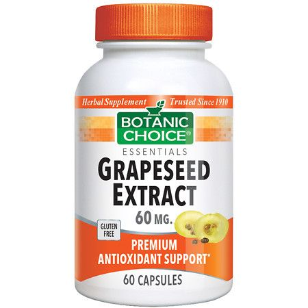 Botanic Choice Grapeseed Extract 60 mg Herbal Supplement Capsules - 60.0 ea.