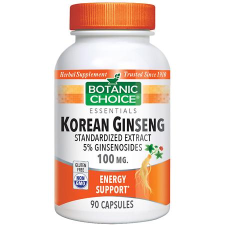Botanic Choice Korean Ginseng 100 mg Herbal Supplement Capsules - 90.0 ea.