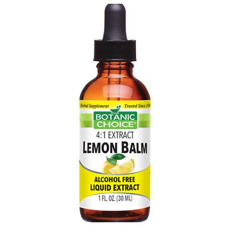Botanic Choice Lemon Balm Herbal Supplement Liquid - 1.0 Ounce