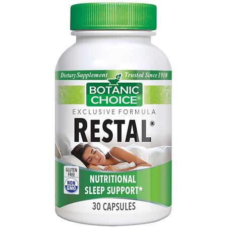 Botanic Choice Restal Sleep Support Herbal Supplement Capsules - 30.0 Each