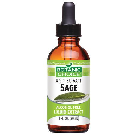 Botanic Choice Sage Herbal Supplement Liquid - 1.0 Ounce
