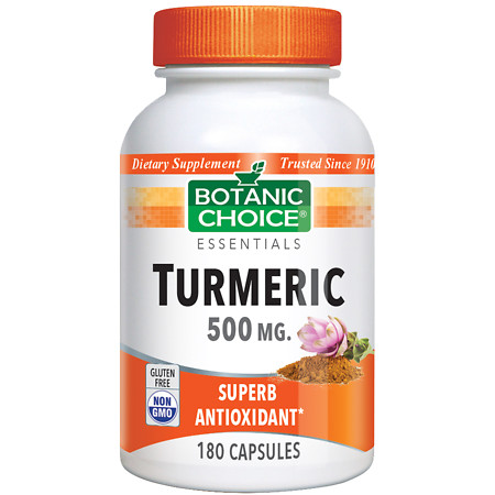 Botanic Choice Turmeric 500 mg Herbal Supplement Capsules - 180.0 ea.