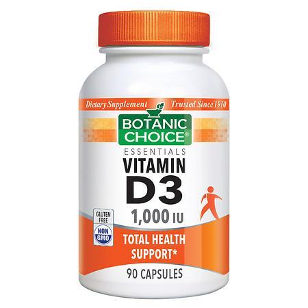 Botanic Choice Vitamin D3 1000 IU Dietary Supplement Capsules - 90.0 ea